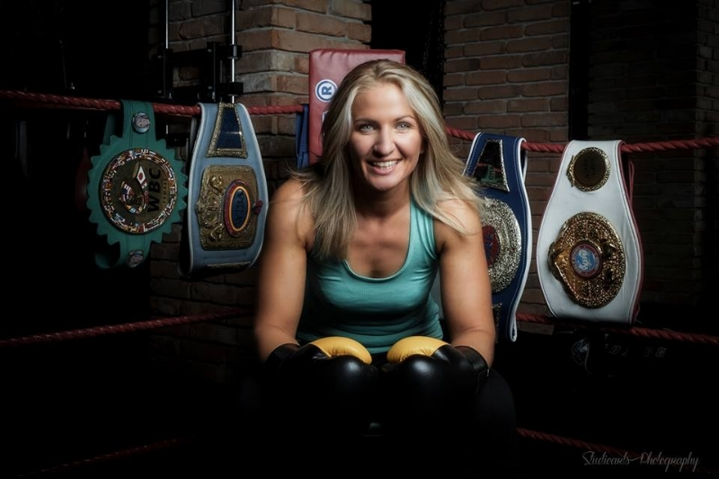 WBC super middleweight champion Nikki Adler is ready to defend her title against two-time Olympic gold medalist Claressa Shields when the two meet in August. Photo Credit: Studioarts Photography