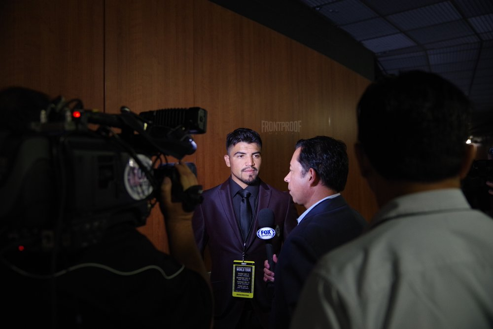 Victor Ortiz was on hand to witness the historical event. Photo: Luis Mejia/Frontproof Media