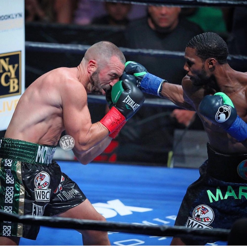 Marcus Browne stopped Seanie Monaghan in the second round. Photo: Marilyn Paulino/RBR Boxing