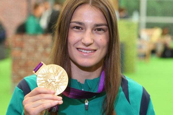 Katie Taylor poses with her Olympic Gold Medal. Photo: Sky Sports