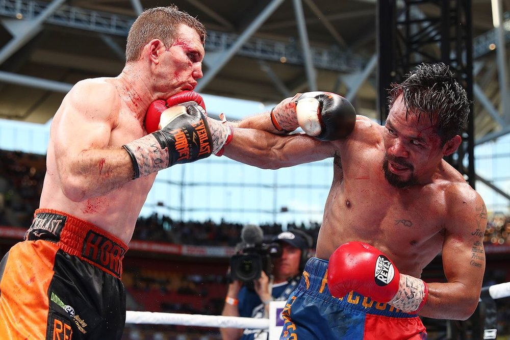 Manny Pacquiao had a tougher than expected fight with Jeff Horn despite most having him winning the fight. Photo: Chris Hyde/Getty Images