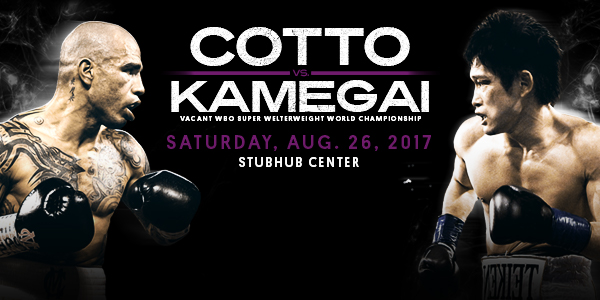 Miguel Cotto Yoshihiro Kamegai Poster Boxing