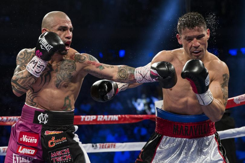 Miguel Cotto became the first Puerto Rican four-division champion when he defeated Sergio Martinez in June 2014. Photo: Brendan   McDenmind  /Reuters