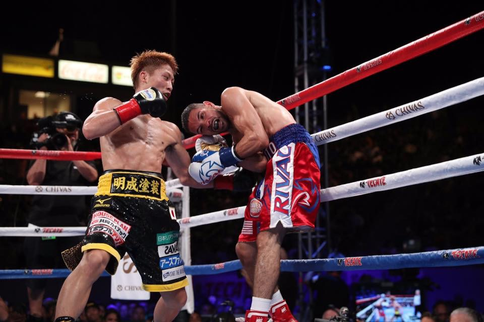 Naoya Inoue made a successful United States debut stopping Antonio Nieves after six rounds. Photo: HBO Boxing