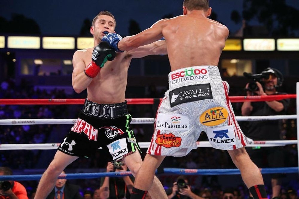 Juan Francisco Estrada won a close unanimous decision over Carlos Cuadras with scores of 114-113 from all three judges. Photo: HBO Boxing