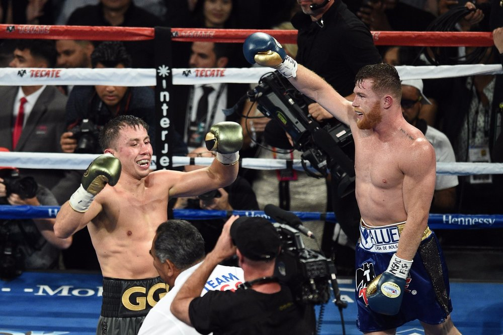 Canelo Alvarez and Gennady Golovkin battled to a draw. Photo: HBO Sports