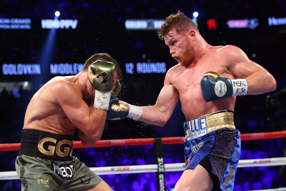 Canelo Alvarez landed clean shots on Gennady Golovkin in several rounds. Photo: HBO Sports