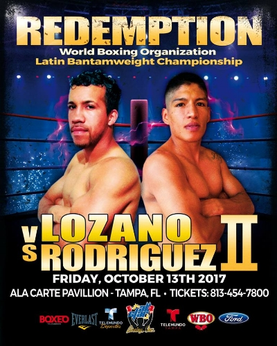 "Daniel Lozano vs. Ricardo Rodriguez II ""Battle for Redemption"" Photo: All Star Boxing Inc."
