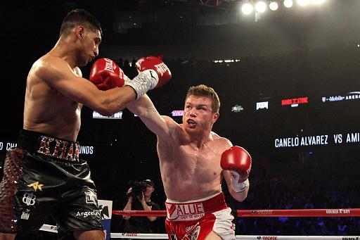 Amir Khan was last seen inside a boxing ring against Canelo Alvarez in May 2016. Photo: John Gurzinski/Getty Images