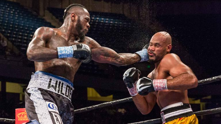 Deontay Wilder stopped Gerald Washington in the fifth round this past February. Photo: Ryan Hafey/Premier Boxing Champions