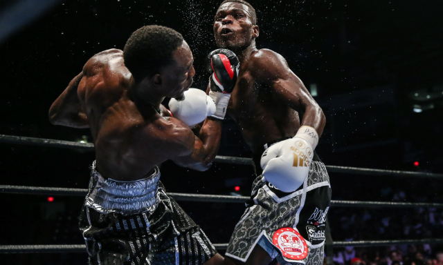 Robert Easter Jr. won the vacant IBF lightweight title from Richard Commey in 2016. Photo: Andy Samuelson/PBC