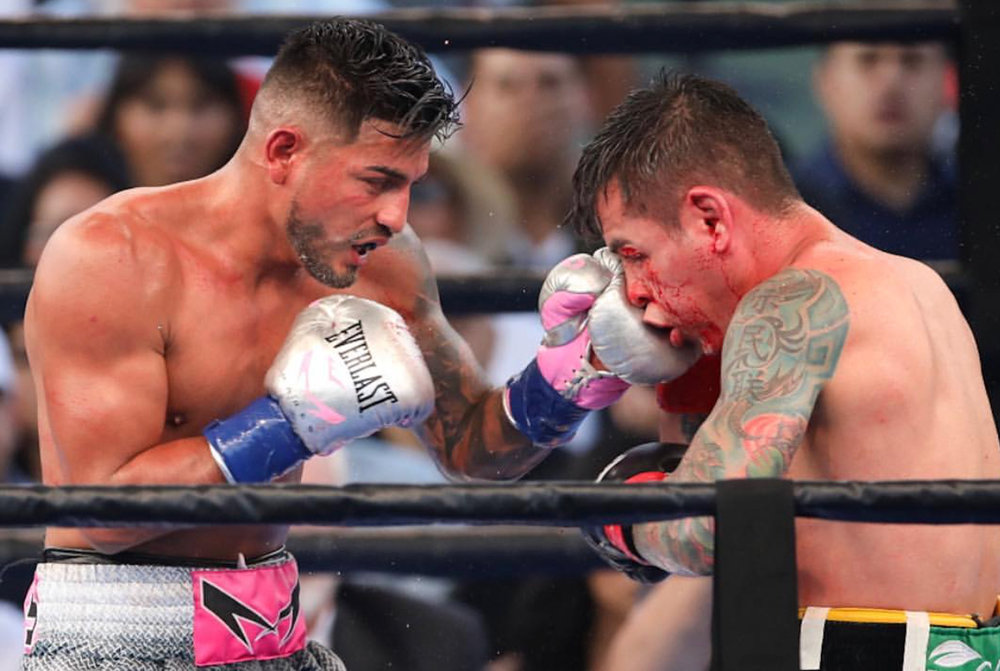 Abner Mares wins in impressive fashion, dominating his opponent Andres Gutierrez in Carson. Photo credit: Kelly Owen/ Frontproof Media
