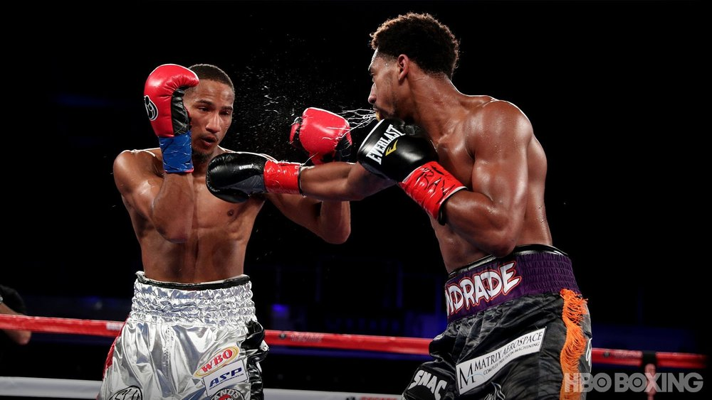 Demetrius Andrade won a wide unanimous decision over Alantez Fox. Photo: HBO Boxing