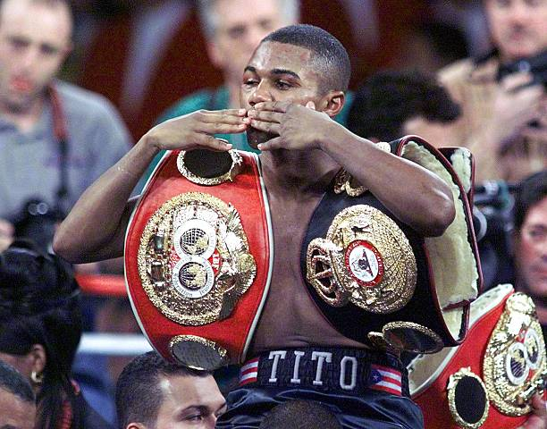 Felix Trinidad after his bout with Fernando Vargas where he became the unified WBA and IBF 154-pound champion. Photo: Mike Fiala/Getty Images