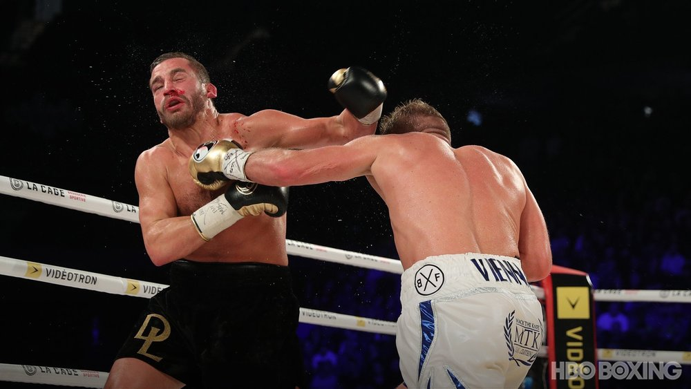 Billy Joe Saunders won a wide unanimous decision over David Lemieux to retain his WBO middleweight championship. Photo: HBO Boxing