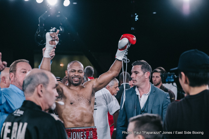 Roy Jones Jr. after his last bout with Bare Knuckle Boxing Champion Bobby Gunn where he scored an eighth round stoppage. Photo: Paul Jones/East Side Boxing