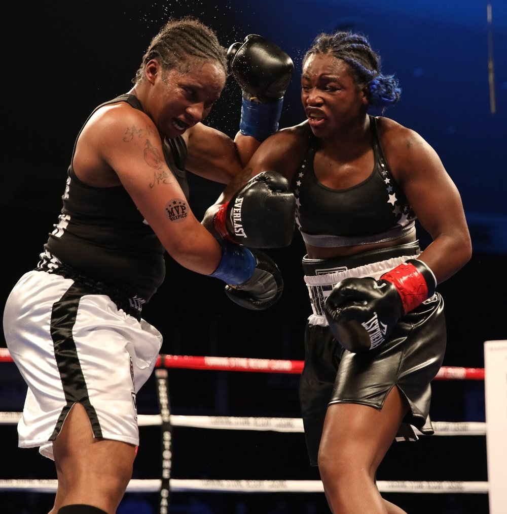 Claressa Shields was dominating from start to finish in Verona. Photo: Marilyn Paulino / Frontproof Media