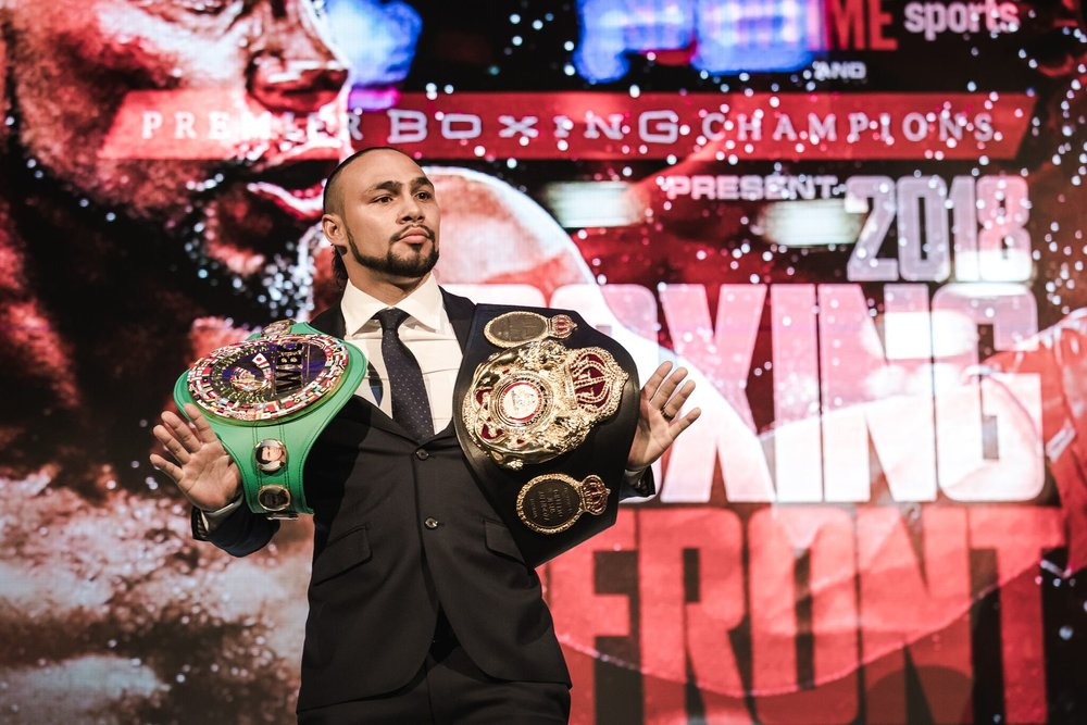 Keith Thurman will make his return to the ring May 19, against an opponent to be named. Photo: Amanda Westcott/Showtime
