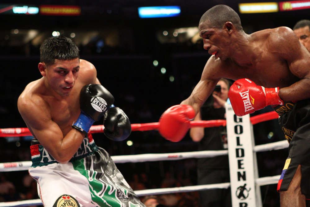 Abner Mares fought Yonnhy Perez to a draw in his first world title bout. Photo: Showtime Sports