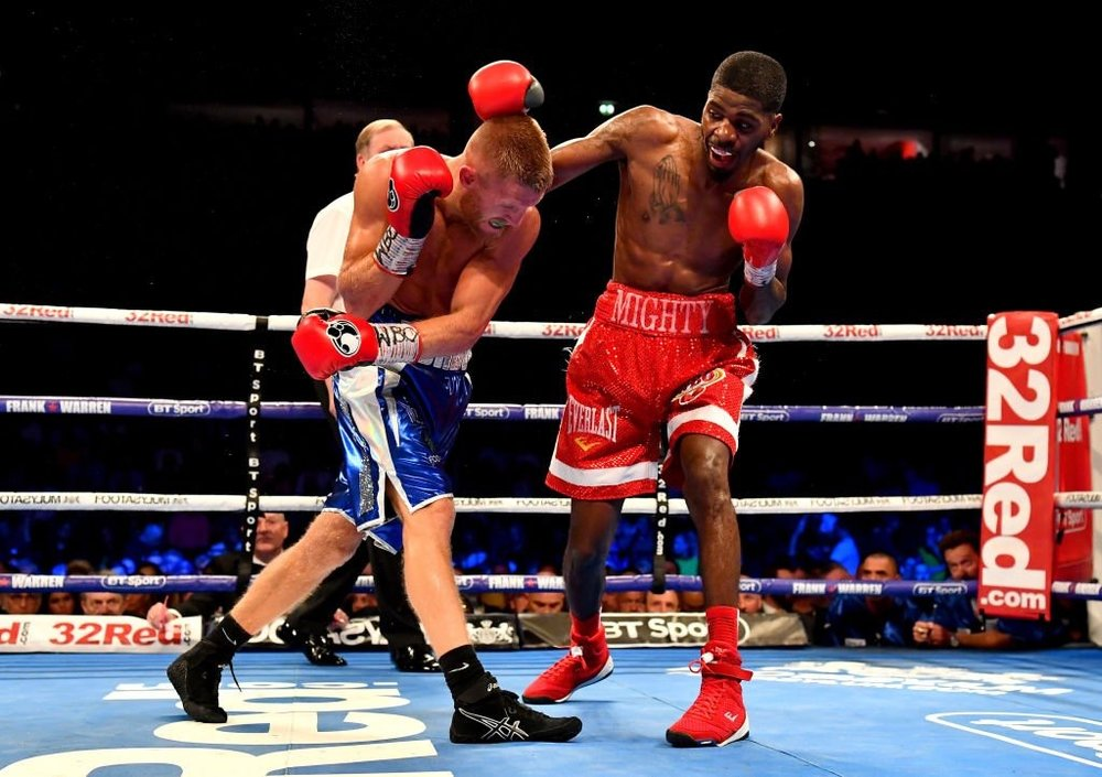 Maurice Hooker won the vacant WBO 140-pound title in Machester, England over Terry Flanagan. Photo: BBC Sports