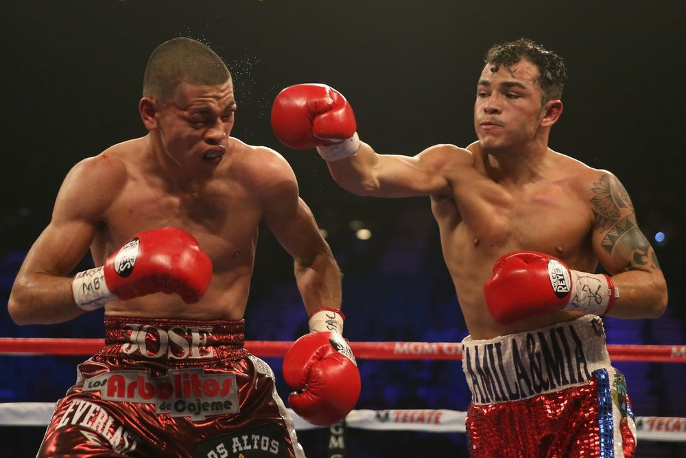 Bryan Vasquez outpointed Jose Felix Jr. on the Pacquiao-Bradley II undercard in April 2014. Photo: Jeff Gross