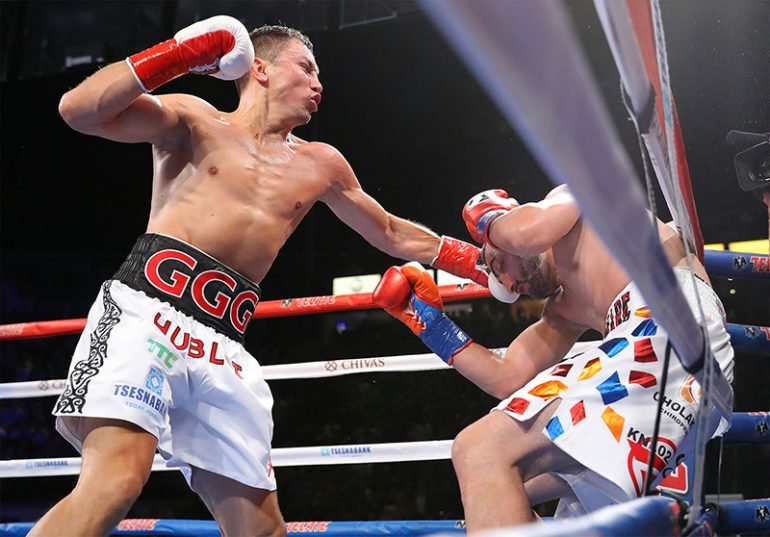Gennady Golovkin knocked out Vanes Martirosyan in the second round on May 5, 2018. Photo: Tom Hogan/Hogan Photos/GGG Promotions