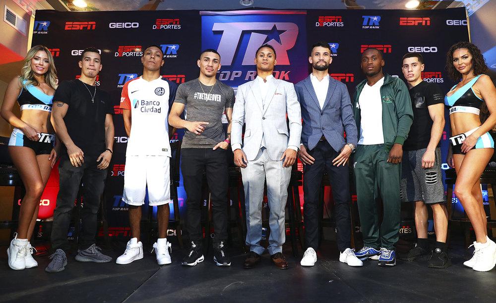 Full Fight Card including Teofimo Lopez, Regis Prograis and William Silva. Photo: Mikey Williams/Top Rank