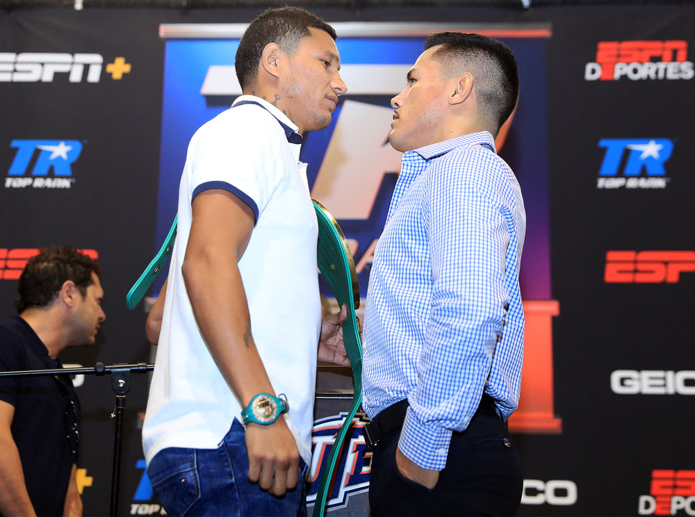 Miguel Berchelt and Miguel Roman are set to face off in El Paso, Texas in November. Photo: Mikey Williams/Top Rank