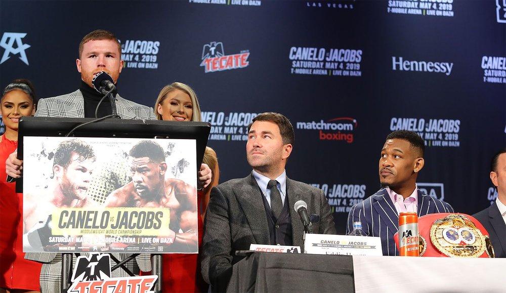 Canelo Alvarez speaks on his upcoming fight with Daniel Jacobs. Photo: Tom Hogan / Golden Boy Promotions