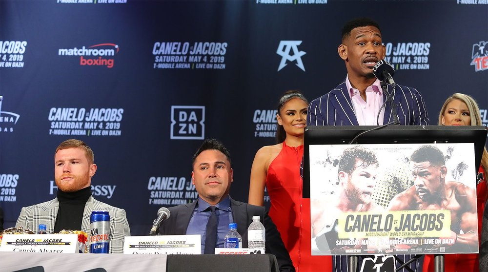 Daniel Jacobs talks about his upcoming fight with Canelo Alvarez. Photo: Tom Hogan / Golden Boy Promotions