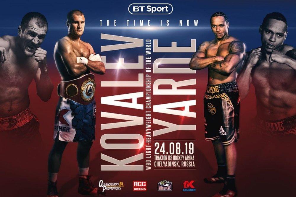 br/>August 24: Kovalev-Yarde Headlines Special Afternoon of