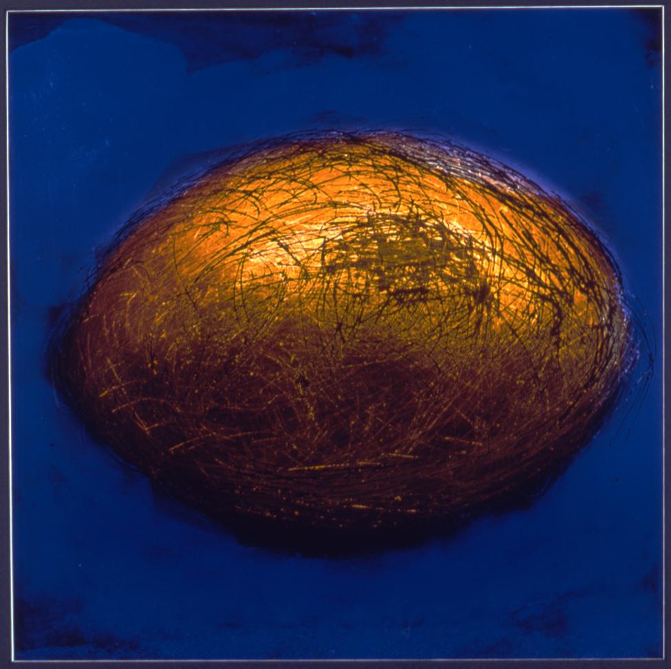 Golden Egg 23¼ X 23¼, framed Manipulated Color Photograph Price: $1000Golden Egg 23¼ X 23¼, framed Manipulated Color Photograph Price: $1000