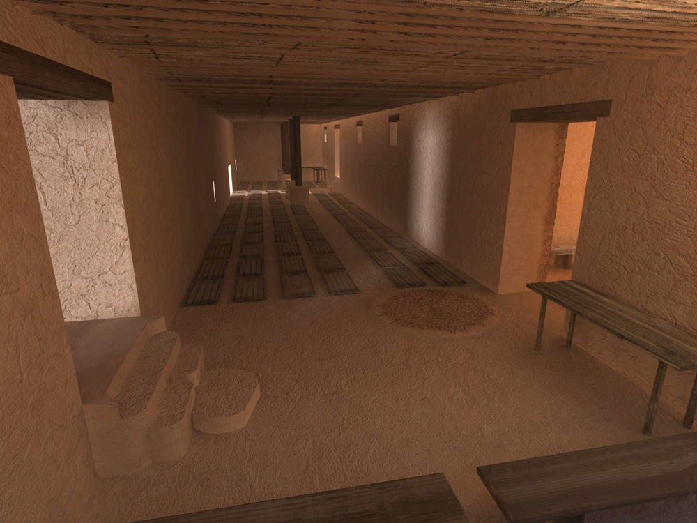 Virtual Qumran Render #3  (Textures only) Autodesk Maya