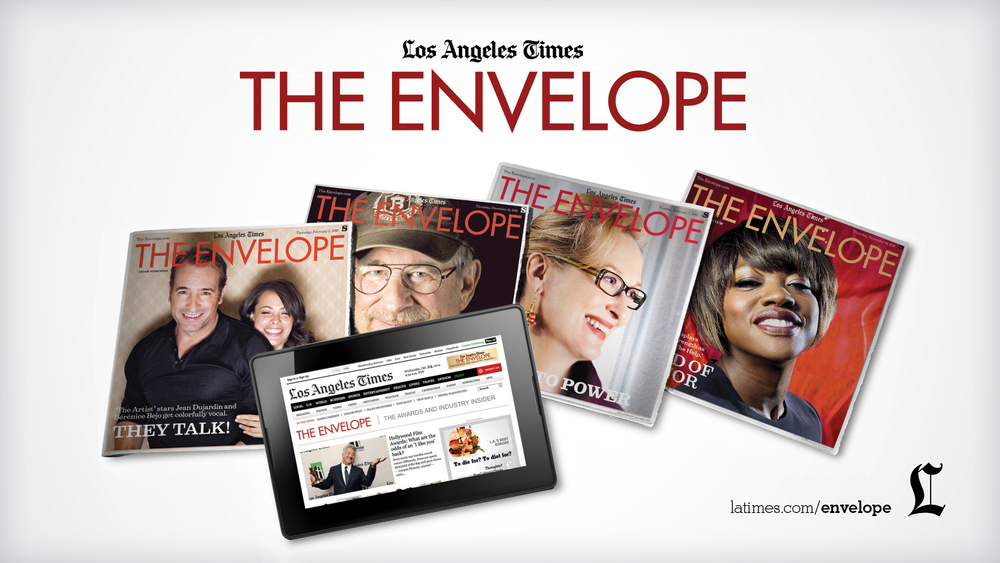 Pre-Movie Slide  LA Times The Envelope Adobe Photoshop