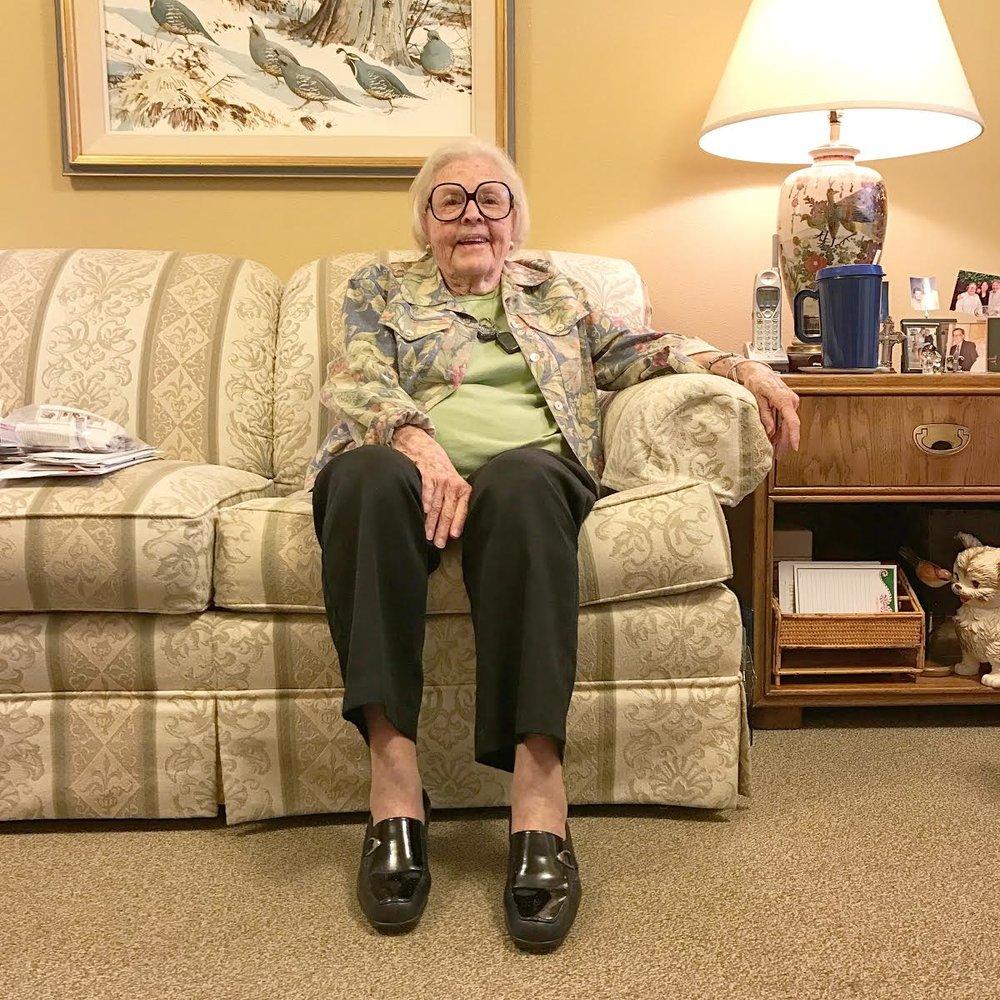 Lucille, age 97  Kansas
