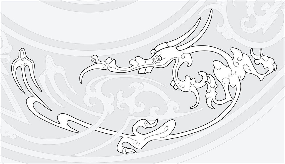 Chinese Bronze Mirror #3  (Detail) Adobe Illustrator