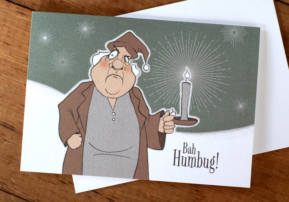 "Scrooge greeting card (3.x5x5"")"