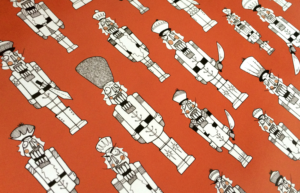 "Nutcracker wrapping paper (24x36"")"