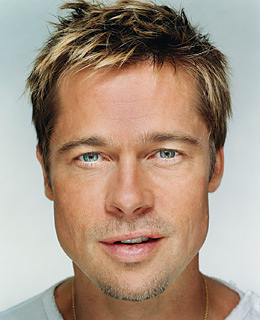 Brad Pitt's face, for example, is very symmetrical.
