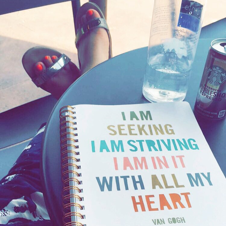 "I got a new journal that's helping me remember to be ""all in"" in every aspect of my life."