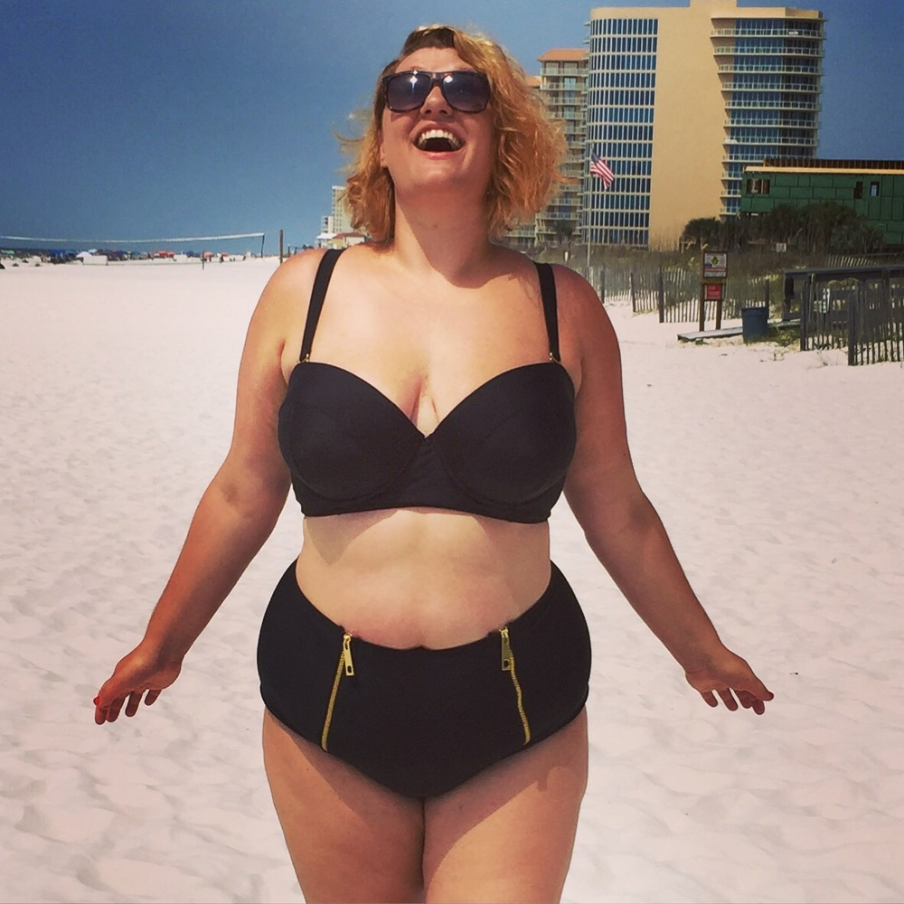 Recent purchase! This  Swim Suits For All #SwimSexy fatkini from Gabi Fresh  is pretty great!  (I also am wearing this with a different Lane Bryant top in some pictures further down.)