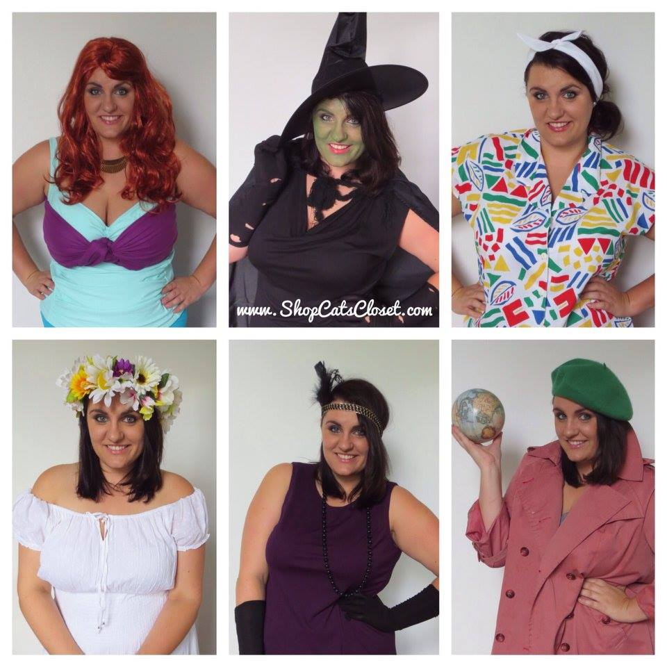 THRIFTED CRAFTED PLUS-SIZE COSTUMES  sc 1 st  Cat Polivoda & PLUS SIZE COSTUMES: Easy DIY Witch Costumes u2014 Cat Polivoda