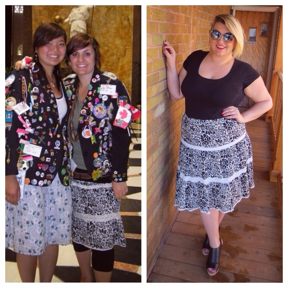 B&W Skirt - 10 Years Apart