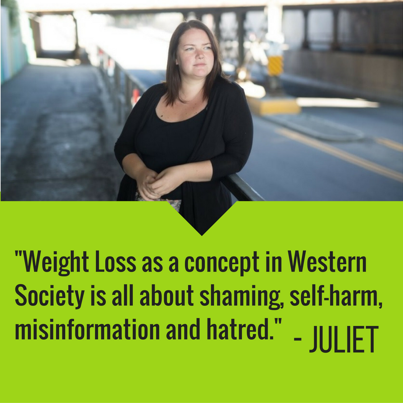 Weight Loss as a concept in Western Society is all about shaming, self-harm, misinformation and hatred. I choose this year, and all years, to lead with self-care and health in mind and to love myself and others, in all beautiful shapes and sizes, at all points in our self-care journeys.