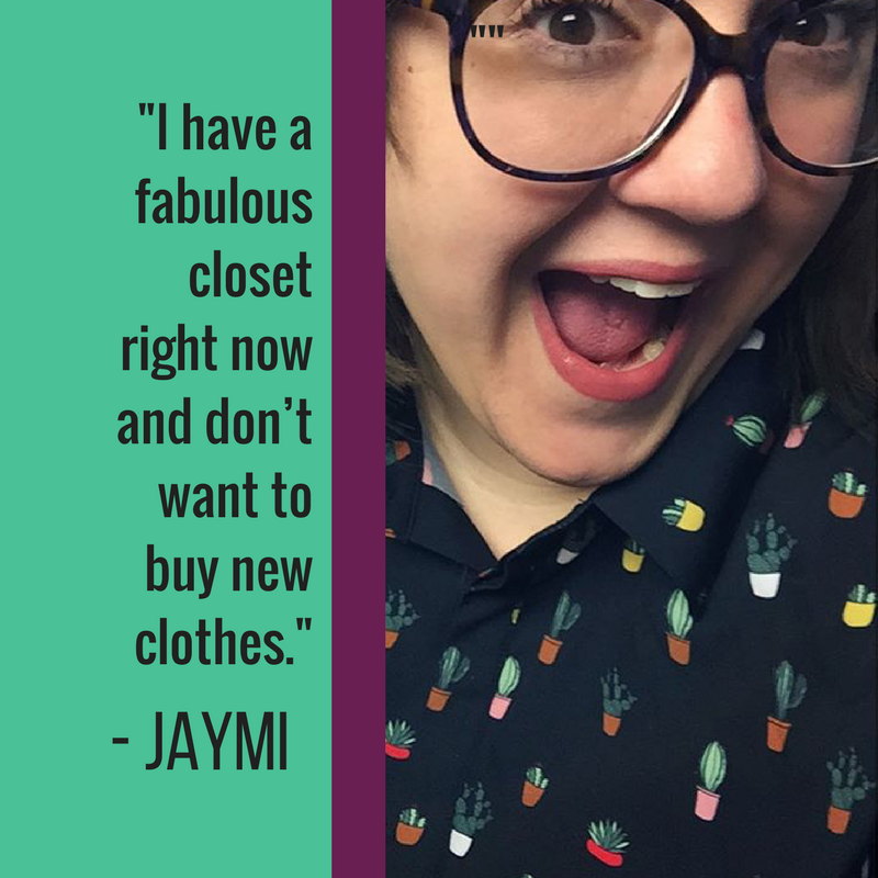 I have a fabulous closet right now and don't want to buy new clothes. Also, working out for me isn't about losing weight. Same goes for choosing healthier options as much as possible. I see losing weight while doing those as a possible benefit/side effect, but it's more about getting stronger and feeling better.