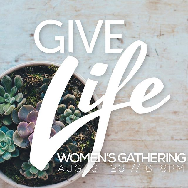 Coming August 26! Natalie Farmer (@nataliejfarmer), CFO of ChoG Ministries will be in sharing part of her story and what it means to Give Life like Jesus where we are planted. RSVP at www.choge.org/givelifewomen