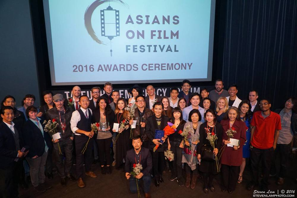 The winning filmmakers in the 2016 Asians on Film Festival