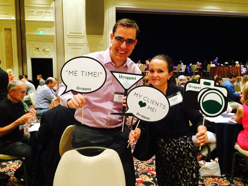 Jessica Mackinnon with YTP Member Jesse Katz at Virtuoso Travel Week 2015