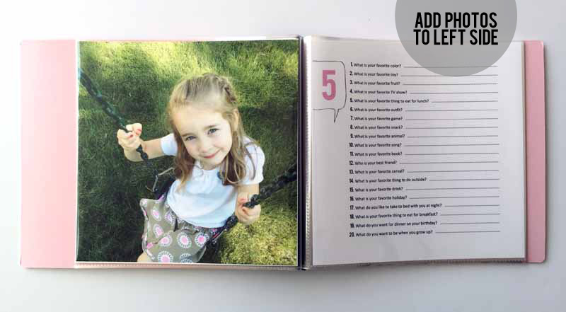 How to Create a 20 Questions Birthday Interview Book for Kids | Includes tutorial plus links to pre-numbered color printables