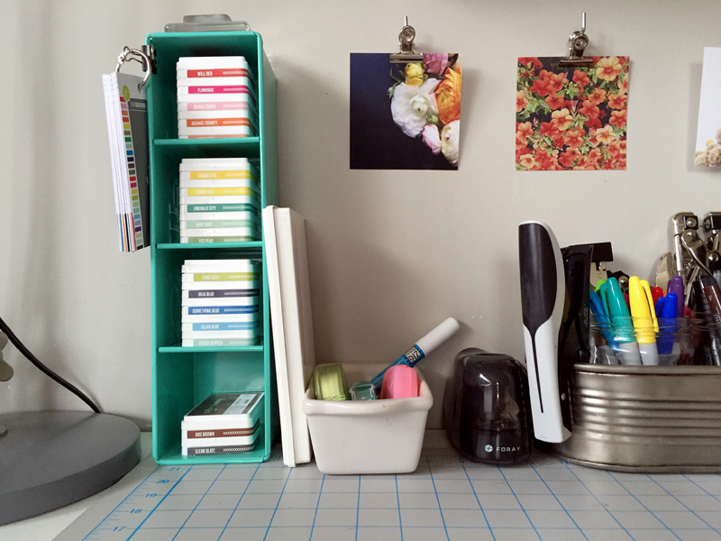 Workspace Wednesday : Ink Pad Storage | Nicole Reaves